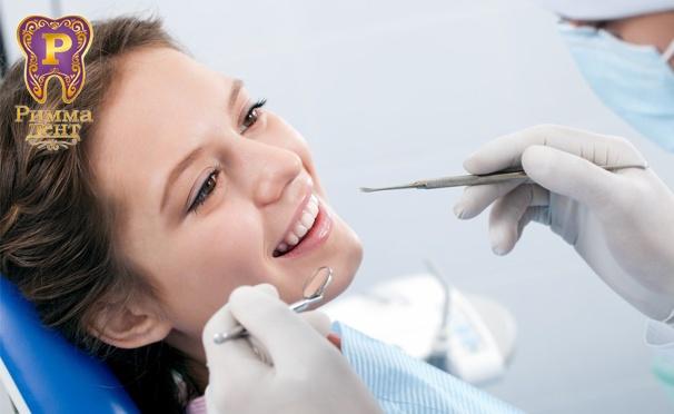 Скидка на Чистка, отбеливание Opalescence BOOST, реставрация, лечение и удаление зубов, установка брекетов, протезирование и имплантология в стоматологической клинике «Римма-дент». Скидка до 90%