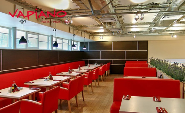 Скидка на Все меню и напитки в ресторане итальянской кухни Vapiano: домашняя пицца, ризотто, паста, равиоли и многое другое! Скидка 50%