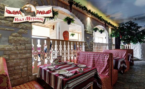 Скидка на Скидка 30% на проведение банкета, скидка 50% на все меню кухни или напитки в сети ресторанов «Илья Муромец»