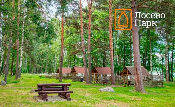 Скидка на Скидка 50% на проживание для одного или двоих в будние и выходные дни на базе отдыха и туризма «Лосево Парк» в Ленинградской области