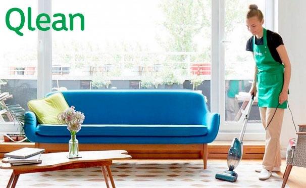 Скидка на Суперцены на уборку квартир от компании Qlean