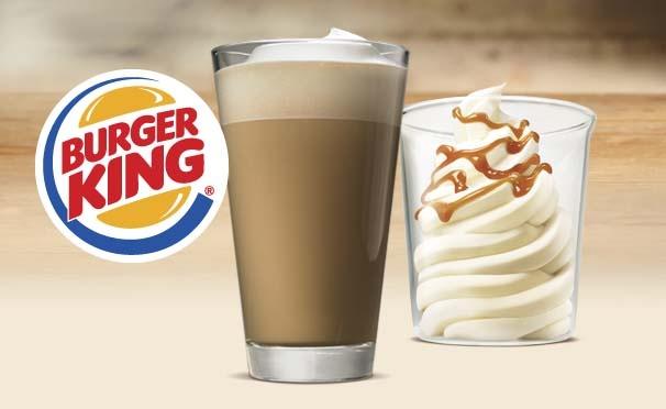 Скидка на При покупке капучино - ванильное мороженое бесплатно в ресторанах Burger King! Промокод 9809