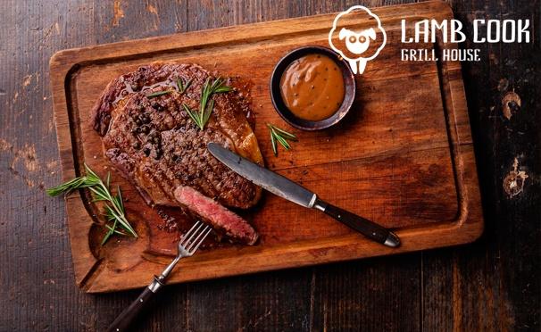 Скидка на Скидка 50% на любые блюда + скидка 30% на напитки в ресторане Lamb Cook