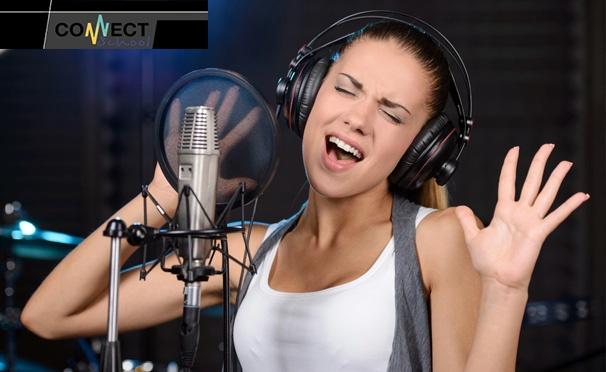Скидка на 4, 8 или 12 индивидуальных занятий вокалом и битбоксом в вокальной школе Connect School. Скидка до 69%